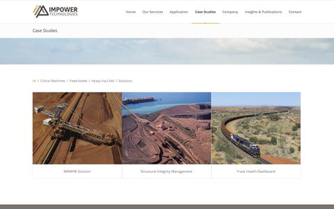 Screenshot of Case Studies Page impowertechnologies.com.au - IMPower Technologies |   Case Studies - captured July 26, 2018
