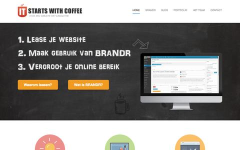 Screenshot of Home Page iswc.nl - Website vernieuwen? - IT Starts With Coffee - captured Oct. 6, 2014