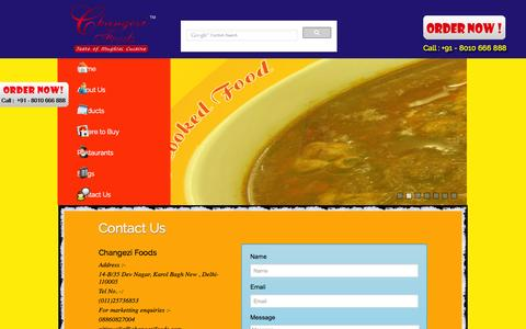 Screenshot of Contact Page changezifoods.com - Contacts Us | changeziFoods.com - captured Oct. 2, 2014