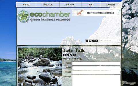 Screenshot of Contact Page ecochamber.com - Contact the EcoChamber - captured July 16, 2018