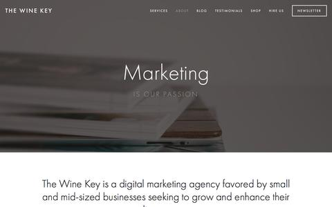 Screenshot of About Page the-wine-key.com - About Ń The Wine Key - captured Dec. 6, 2015