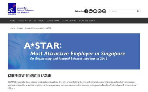 Screenshot of Jobs Page a-star.edu.sg - Career Development in A*STAR - captured Sept. 23, 2018
