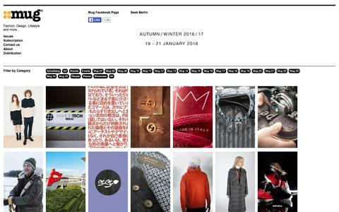 Screenshot of Home Page mugmagazine.com - Mug Magazine, Fashion, Design, Lifestyle & more - captured Jan. 11, 2016