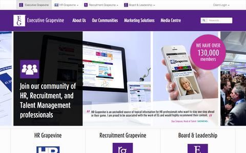 Screenshot of Home Page executive-grapevine.com - Welcome to Executive Grapevine International Ltd - captured Sept. 30, 2014