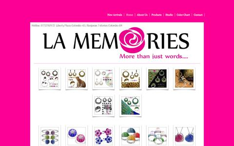 Screenshot of Home Page lamemories.com - lamemories - captured Sept. 29, 2014