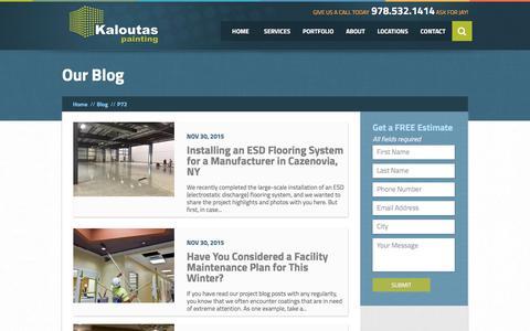 Screenshot of Blog kaloutas.com - Blog | Kaloutas Painting - captured April 26, 2018