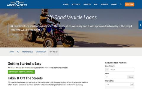Off-Road Vehicle Loans- America First Credit Union