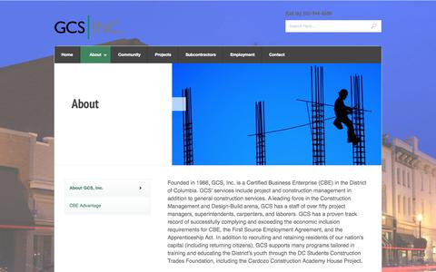 Screenshot of About Page gcs-dc.com - About « GCS, Inc. - captured Oct. 1, 2014