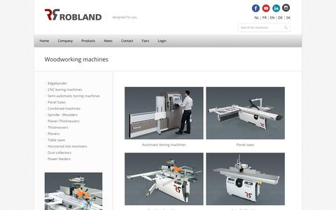 Screenshot of Products Page robland.com - Woodworking machines | Robland - captured Oct. 24, 2018