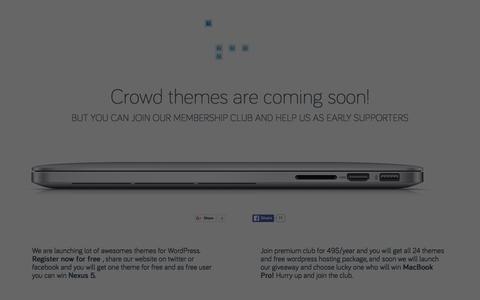 Screenshot of Home Page crowd-themes.com - Crowd Themes - Wordpress Themes Club Revolution - captured Dec. 13, 2015