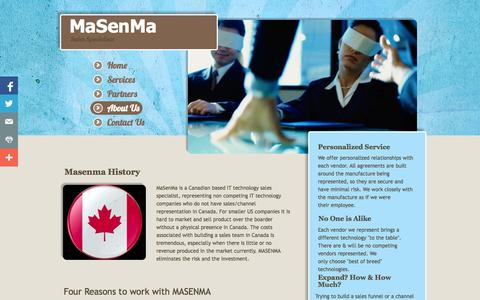 Screenshot of About Page Privacy Page masenma.com - About Us - captured Oct. 27, 2014