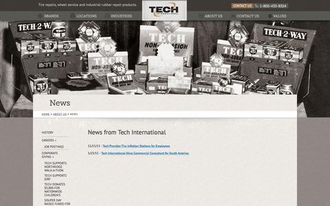 Screenshot of Press Page tech-international.com - News - captured Feb. 28, 2016