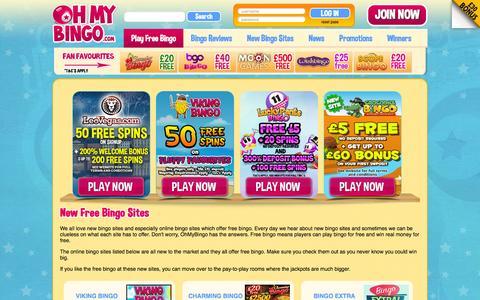 Screenshot of ohmybingo.com - New Free Online Bingo Sites | March 2016 | Oh My Bingo - captured March 19, 2016