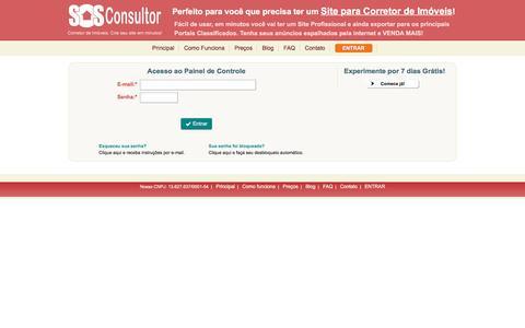 Screenshot of Home Page sosconsultor.com.br - SOS Consultor - Site para Corretor de Imóveis - captured Sept. 7, 2016