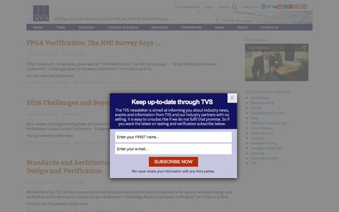 Screenshot of Blog testandverification.com - blog - TVS - captured Feb. 14, 2016
