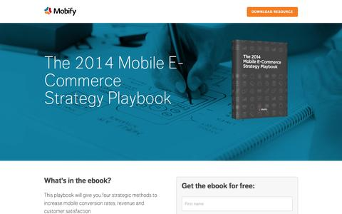 Screenshot of Landing Page mobify.com - The 2014 Mobile E-Commerce Strategy Playbook - captured Aug. 4, 2015