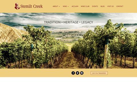 Screenshot of Blog stemiltcreek.com - Blog - Stemilt Creek Winery - captured Nov. 9, 2017