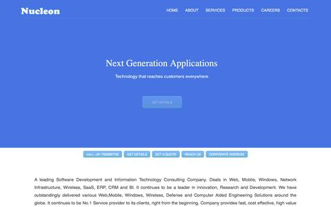 Screenshot of Home Page nucleon.in - Windows,Mobile & Web  Applications Development Company - captured Oct. 1, 2015