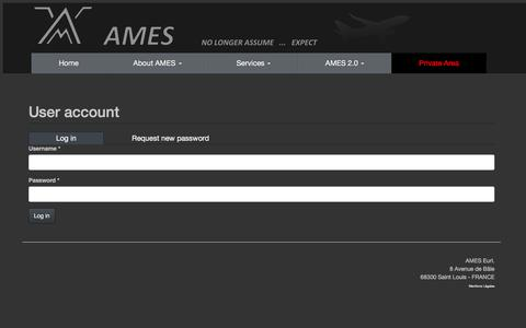 Screenshot of Login Page amesonline.fr - AMES - captured Feb. 4, 2016