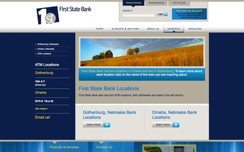 Screenshot of Contact Page Locations Page 1ststatebank.com - Locations - captured Oct. 26, 2014