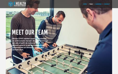 Screenshot of Team Page ehealthventuresgroup.com - Team | eHealth Ventures Group - captured Oct. 17, 2018