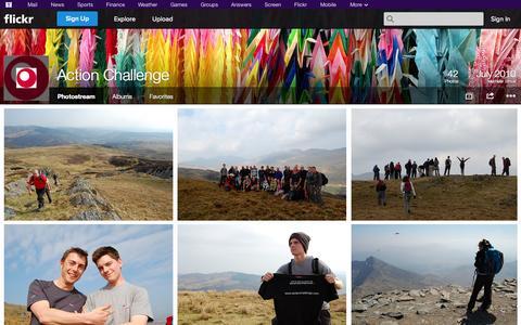 Screenshot of Flickr Page flickr.com - Flickr: Action Challenge's Photostream - captured Oct. 23, 2014
