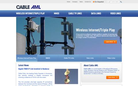 Screenshot of Home Page Site Map Page cableaml.com - | Cable AML Cable AML - captured Sept. 26, 2014