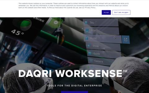 Screenshot of Home Page daqri.com - Home - DAQRI - captured Sept. 12, 2018