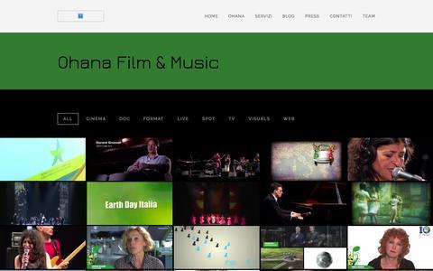 Screenshot of Home Page ohanafilm.com - Ohana Film&Music | Produzioni audiovisive indipendenti - captured Oct. 6, 2014