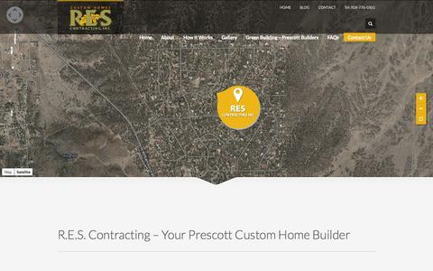 Screenshot of Contact Page prescottbuilder.com - Contact RES Contracting - Prescott Home Builders - captured Oct. 6, 2014