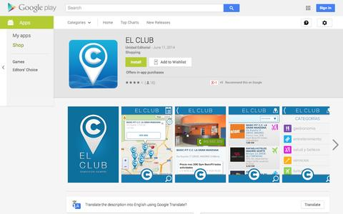 Screenshot of Android App Page google.com - EL CLUB - Android Apps on Google Play - captured Nov. 4, 2014