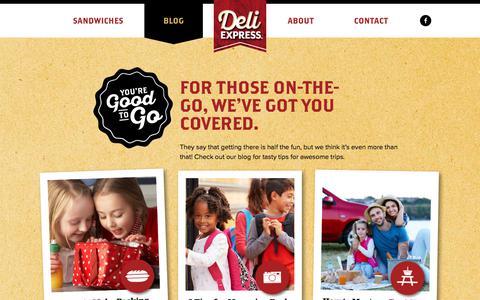 Screenshot of Blog deliexpress.com - Blog - Deli Express - captured Sept. 25, 2018
