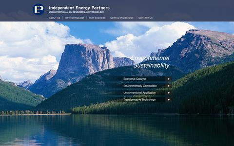 Screenshot of Home Page iepm.com - Independent Energy Partners | Unconventional Oil Resources and Technology - captured Oct. 6, 2014