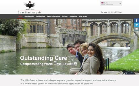 Screenshot of Home Page cambridge-guardian-angels.com - Cambridge Guardian Angels - Cambridge guardians | Cambridge guardians - captured Jan. 24, 2016