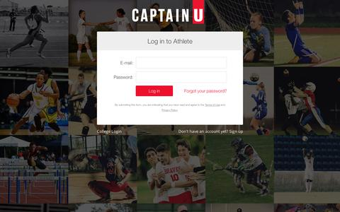 Screenshot of Login Page captainu.com - Athletes   CaptainU College Sports Recruiting   CaptainU - captured July 15, 2018