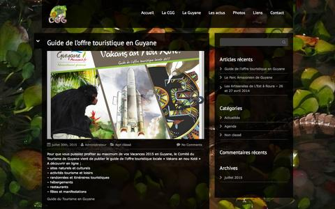 Screenshot of Blog guides-guyane.com - Les actus - Guides Guyane - captured June 2, 2016