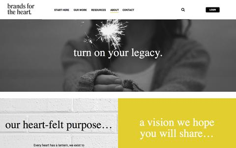 Screenshot of About Page brandsfortheheart.com - Graphic Design Agency & Branding Agency Vancouver - captured Aug. 3, 2018