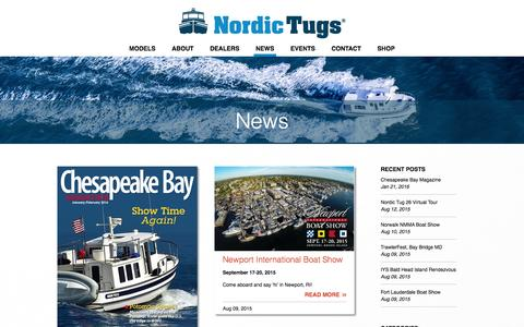Screenshot of Press Page nordictugs.com - News - Nordic Tugs - captured Feb. 22, 2016
