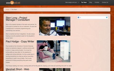 Screenshot of Team Page wwwdotweb.net - The Team... - wwwDotweb - A website design company - El Dorado, AR - captured Oct. 7, 2014