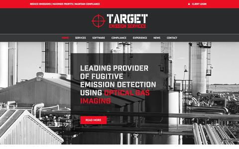 Screenshot of Home Page targetemission.com - Target Emission Services – As regulatory and subject matter EXPERTS, we provide a full range of fugitive emission management services to the Oil & Gas and Petrochemical Industries. - captured Dec. 12, 2016