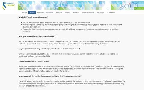 Screenshot of FAQ Page picti.ps - FAQ  PICTI - captured Feb. 7, 2016