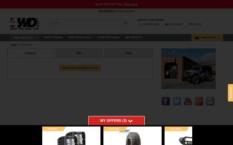 Screenshot of Contact Page 4wd.com - Contact Us   4WD.com - captured Feb. 27, 2020