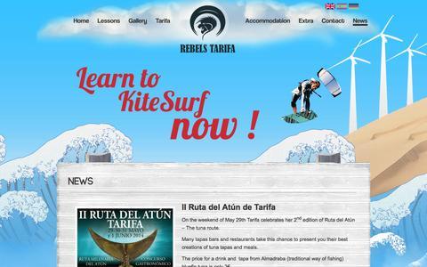 Screenshot of Press Page rebelstarifa.com - Rebels Tarifa Kitesurfing school | NEWS - captured Oct. 26, 2014
