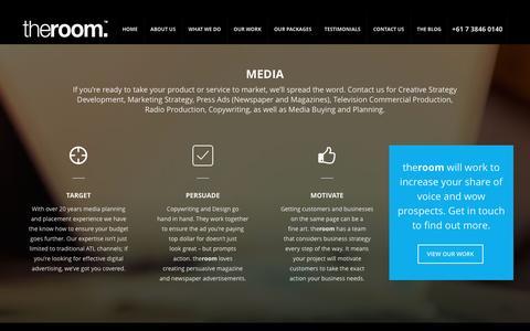 Screenshot of Press Page theroom.com.au - Media - The Room - captured Dec. 22, 2016