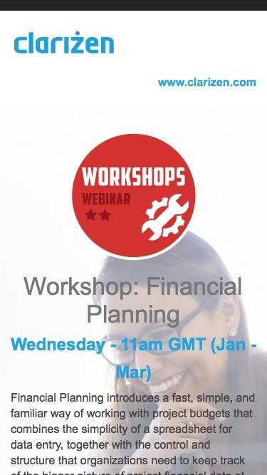 Workshop: Financial Planning