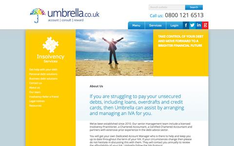 Screenshot of About Page umbrella.co.uk - About Us | Umbrella - captured Oct. 18, 2018