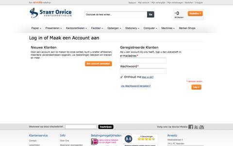 Screenshot of Login Page startoffice.nl - Klant Login - captured Sept. 30, 2014