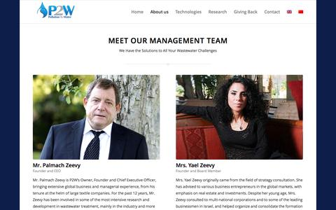 Screenshot of Team Page p2w.co - Management - P2W.com | Heavy Metals and Arsenic Removal | Cyanide Destruction | Slurry Treatment | Sulfate Reduction | Conductivity Reduction - captured Oct. 28, 2014