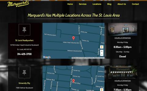 Screenshot of Locations Page marquardscleaners.com - Locations Đ Marquards Cleaners - captured Dec. 19, 2015