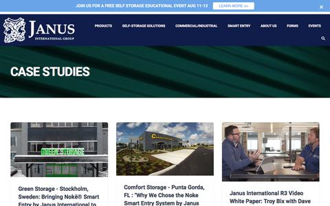 Screenshot of Case Studies Page janusintl.com - Case Studies - Janus International Group - captured July 3, 2019